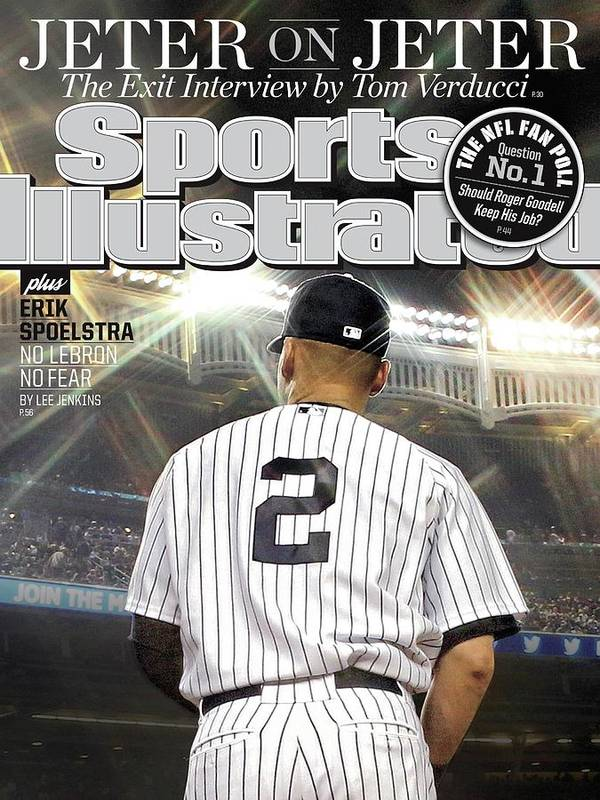 Magazine Cover Poster featuring the photograph Jeter On Jeter The Exit Interview Sports Illustrated Cover by Sports Illustrated