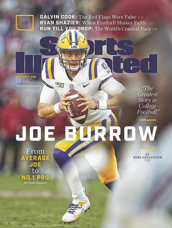 Magazine Cover Poster featuring the photograph Joe Burrow From Average Joe To No. 1 Pro Sports Illustrated Cover by Sports Illustrated