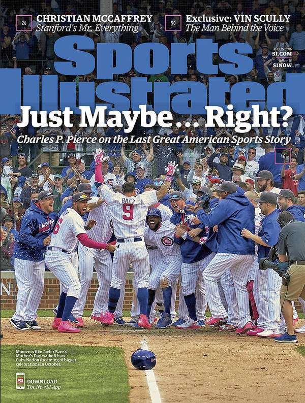 Magazine Cover Poster featuring the photograph Just Maybe... Right The Last Great American Sports Story Sports Illustrated Cover by Sports Illustrated