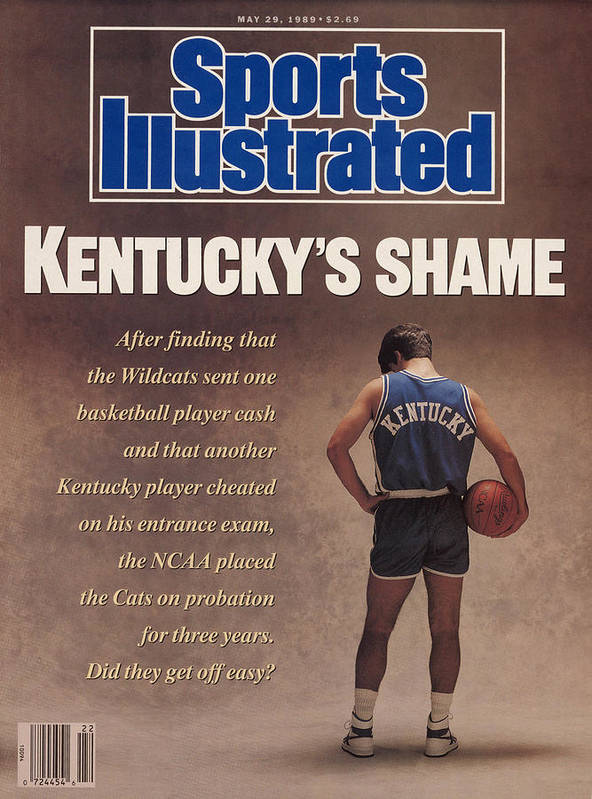 Magazine Cover Poster featuring the photograph Kentuckys Shame Wildcats Basketball Scandal Sports Illustrated Cover by Sports Illustrated