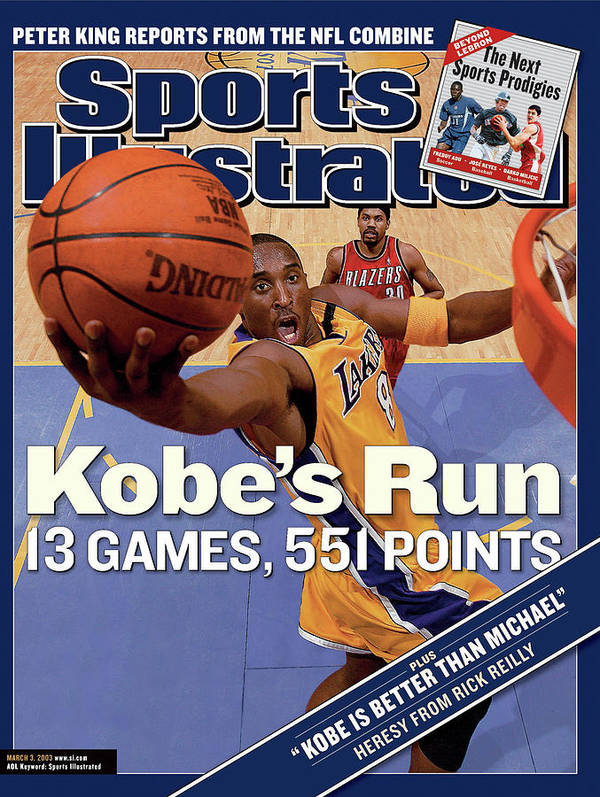 Magazine Cover Poster featuring the photograph Kobes Run 13 Games, 551 Points Sports Illustrated Cover by Sports Illustrated