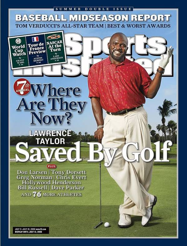 Magazine Cover Poster featuring the photograph Lawrence Taylor, Former Nfl Player Sports Illustrated Cover by Sports Illustrated