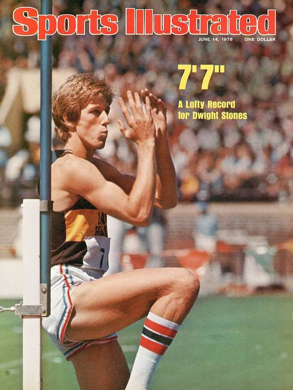 Magazine Cover Poster featuring the photograph Long Beach State Dwight Stones, 1976 Ncaa Championships Sports Illustrated Cover by Sports Illustrated