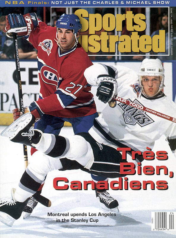 National Hockey League Poster featuring the photograph Los Angeles Kings Tomas Sandstrom, 1993 Nhl Stanley Cup Sports Illustrated Cover by Sports Illustrated