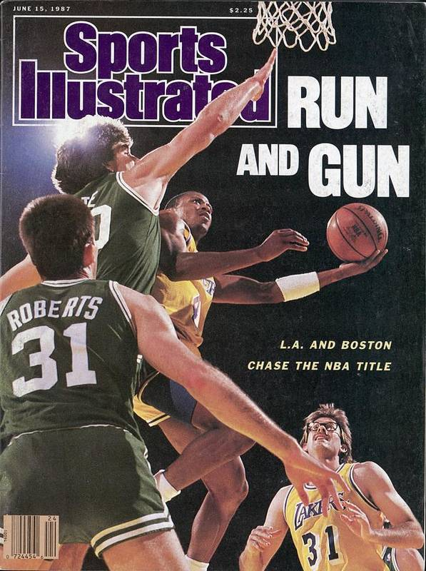 Playoffs Poster featuring the photograph Los Angeles Lakers Byron Scott, 1987 Nba Finals Sports Illustrated Cover by Sports Illustrated