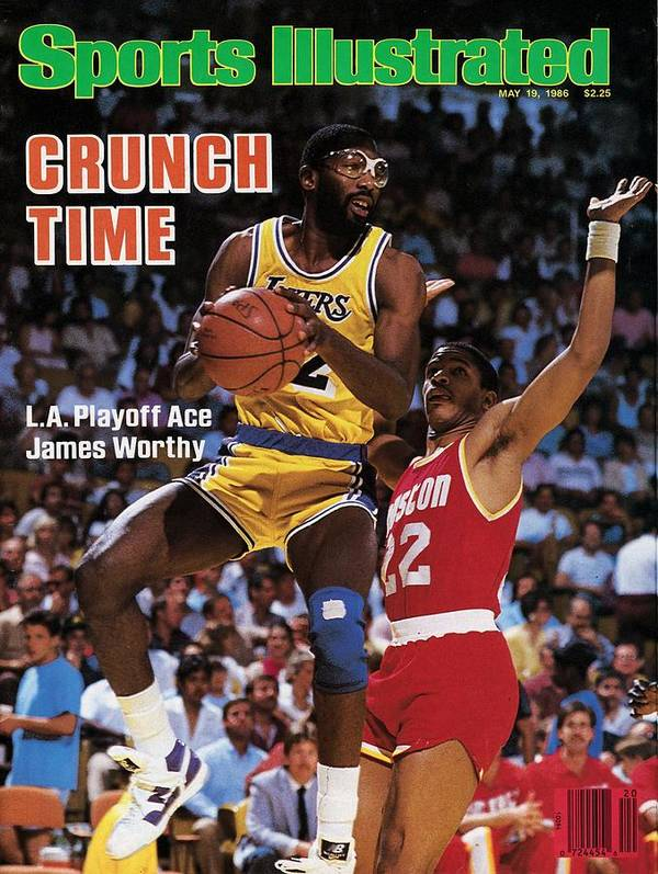 Playoffs Poster featuring the photograph Los Angeles Lakers James Worthy, 1986 Nba Western Sports Illustrated Cover by Sports Illustrated