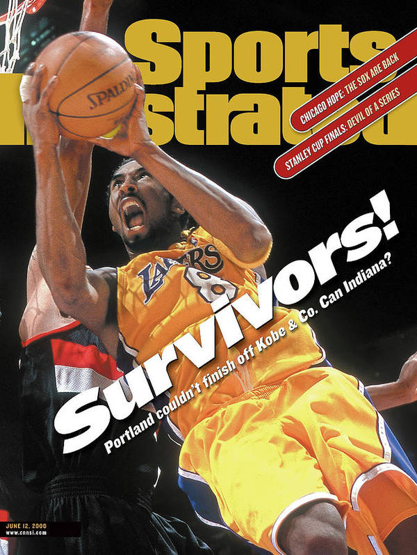 Playoffs Poster featuring the photograph Los Angeles Lakers Kobe Bryant, 2000 Nba Western Conference Sports Illustrated Cover by Sports Illustrated