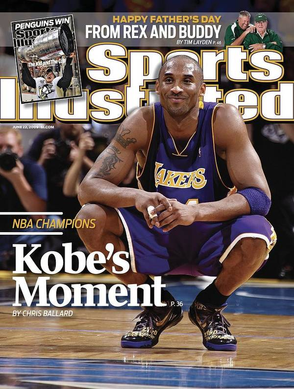 Magazine Cover Poster featuring the photograph Los Angeles Lakers Kobe Bryant, 2009 Nba Finals Sports Illustrated Cover by Sports Illustrated