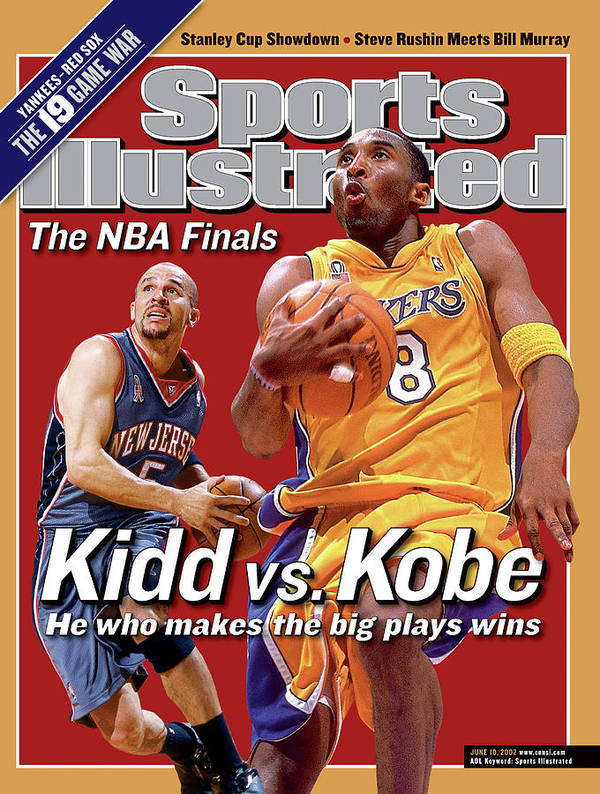 Playoffs Poster featuring the photograph Los Angeles Lakers Kobe Bryant And New Jersey Nets Jason Sports Illustrated Cover by Sports Illustrated