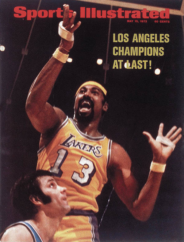 Playoffs Poster featuring the photograph Los Angeles Lakers Wilt Chamberlain, 1972 Nba Finals Sports Illustrated Cover by Sports Illustrated
