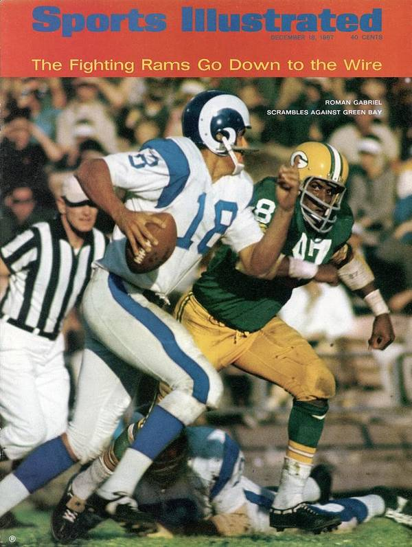 Sports Illustrated Poster featuring the photograph Los Angeles Rams Roman Gabriel Sports Illustrated Cover by Sports Illustrated
