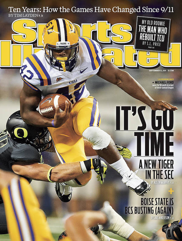 Magazine Cover Poster featuring the photograph Louisiana State University Vs University Of Oregon Sports Illustrated Cover by Sports Illustrated