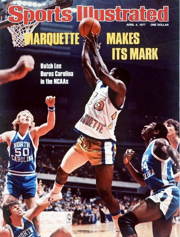 Atlanta Poster featuring the photograph Marquette Butch Lee, 1977 Ncaa National Championship Sports Illustrated Cover by Sports Illustrated