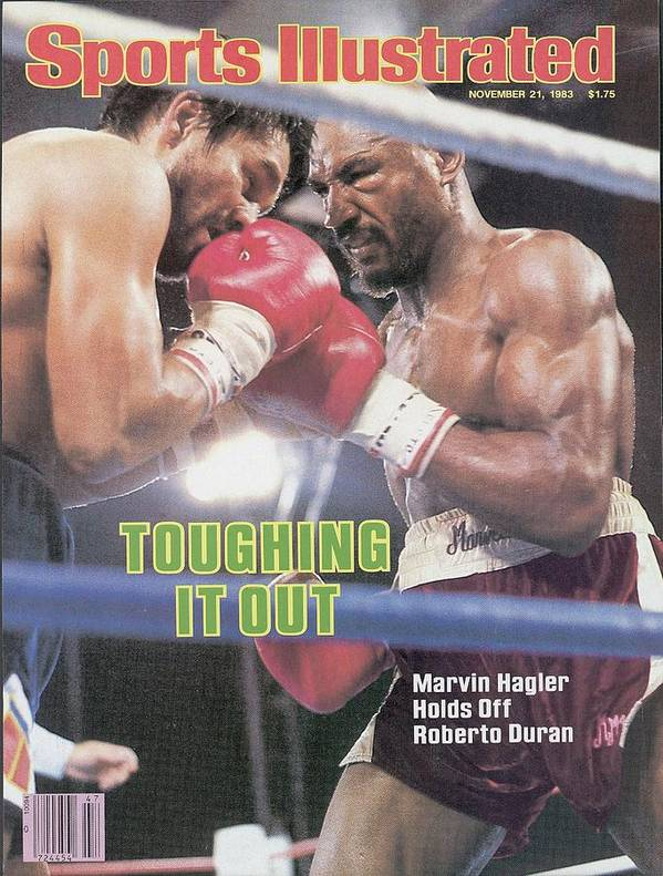 1980-1989 Poster featuring the photograph Marvelous Marvin Hagler, 1983 Wbcwbaibf Middleweight Title Sports Illustrated Cover by Sports Illustrated