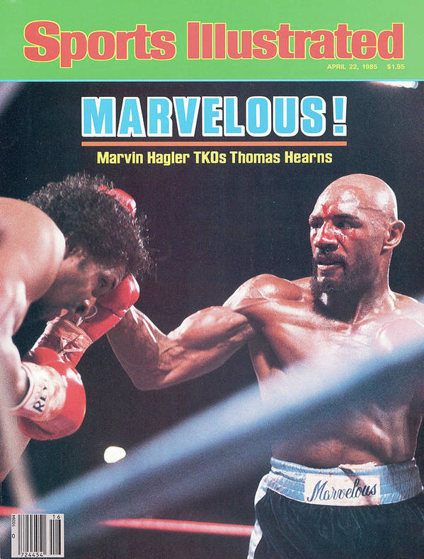 1980-1989 Poster featuring the photograph Marvelous Marvin Hagler, 1985 Wbc Wba Ibf Middleweight Title Sports Illustrated Cover by Sports Illustrated
