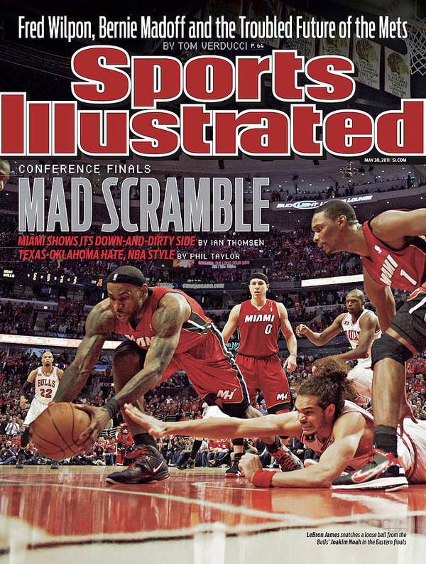 Playoffs Poster featuring the photograph Miami Heat V Chicago Bulls - Game Two Sports Illustrated Cover by Sports Illustrated