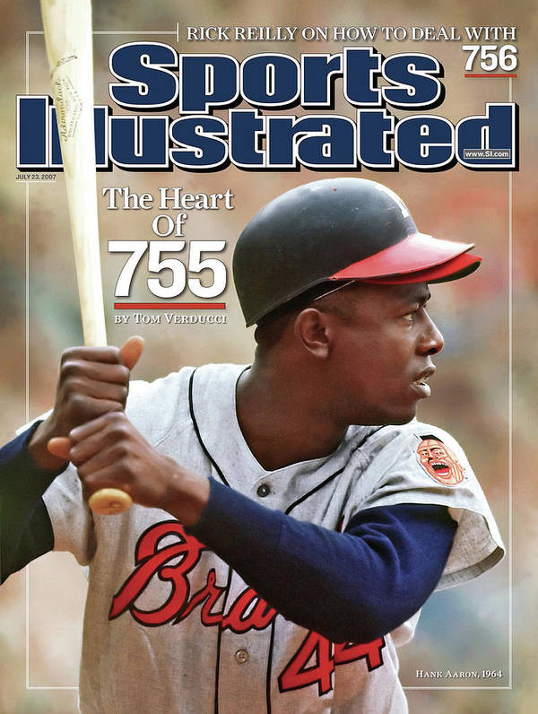 Magazine Cover Poster featuring the photograph Milwaukee Braves Hank Aaron Sports Illustrated Cover by Sports Illustrated