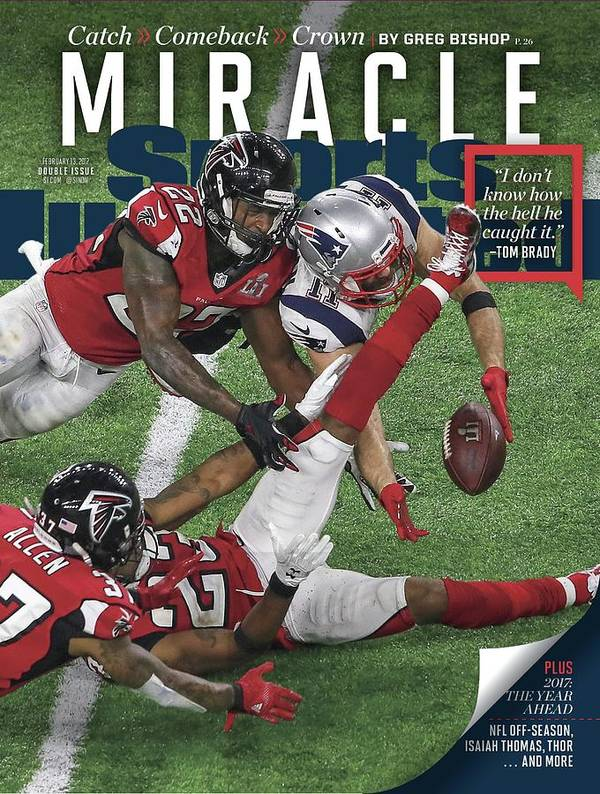 Magazine Cover Poster featuring the photograph Miracle Catch, Comeback, Crown Sports Illustrated Cover by Sports Illustrated