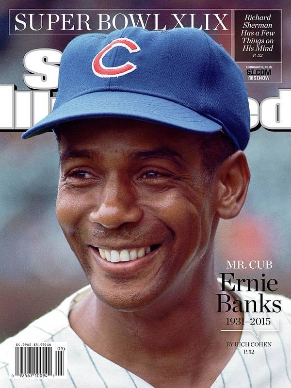 St. Louis Cardinals Poster featuring the photograph Mr. Cub Ernie Banks 1931 - 2015 Sports Illustrated Cover by Sports Illustrated