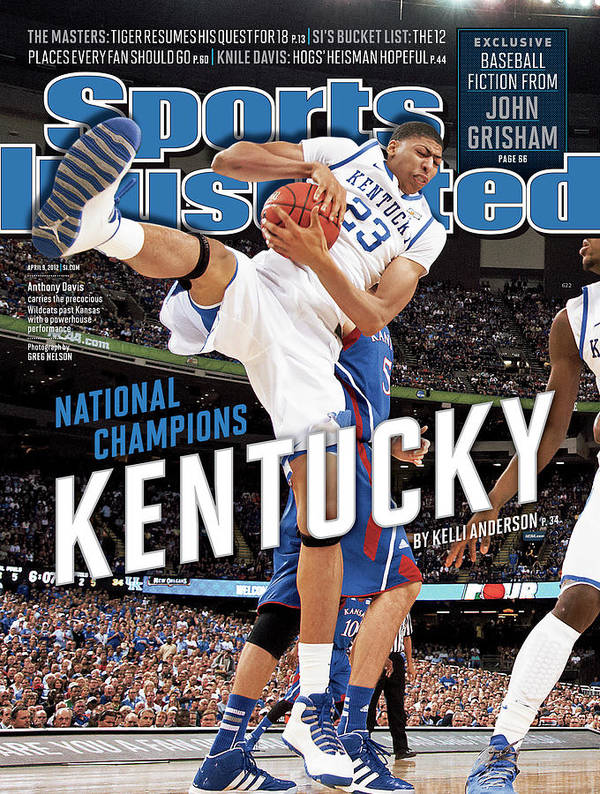 Magazine Cover Poster featuring the photograph Ncaa Basketball Tournament - Final Four - Championship Sports Illustrated Cover by Sports Illustrated