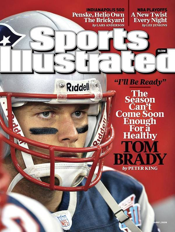 New England Patriots Poster featuring the photograph New England Patriots Qb Tom Brady, Super Bowl Xlii Sports Illustrated Cover by Sports Illustrated