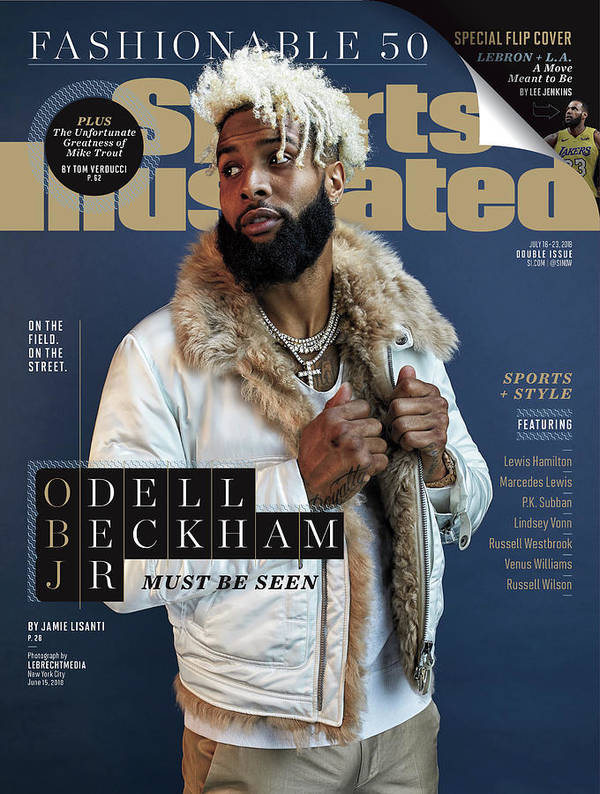 Magazine Cover Poster featuring the photograph New York Giants Odell Beckham Jr., 2018 Fashionable 50 Issue Sports Illustrated Cover by Sports Illustrated