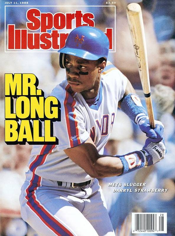 Magazine Cover Poster featuring the photograph New York Mets Darryl Strawberry... Sports Illustrated Cover by Sports Illustrated