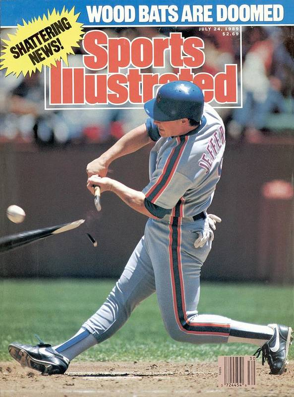 Candlestick Park Poster featuring the photograph New York Mets Gregg Jeffries... Sports Illustrated Cover by Sports Illustrated