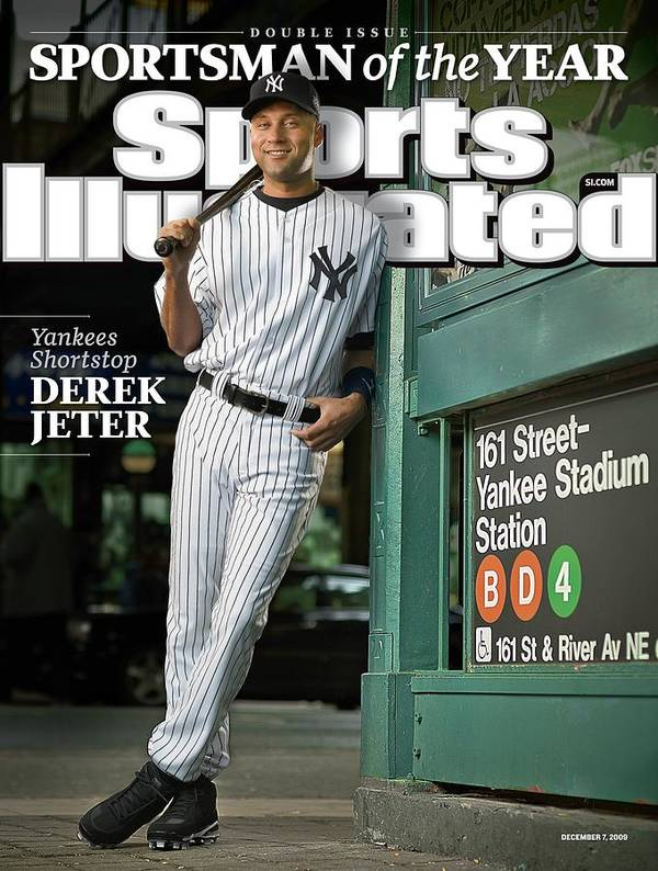 Magazine Cover Poster featuring the photograph New York Yankees Derek Jeter, 2009 Sportsman Of The Year Sports Illustrated Cover by Sports Illustrated