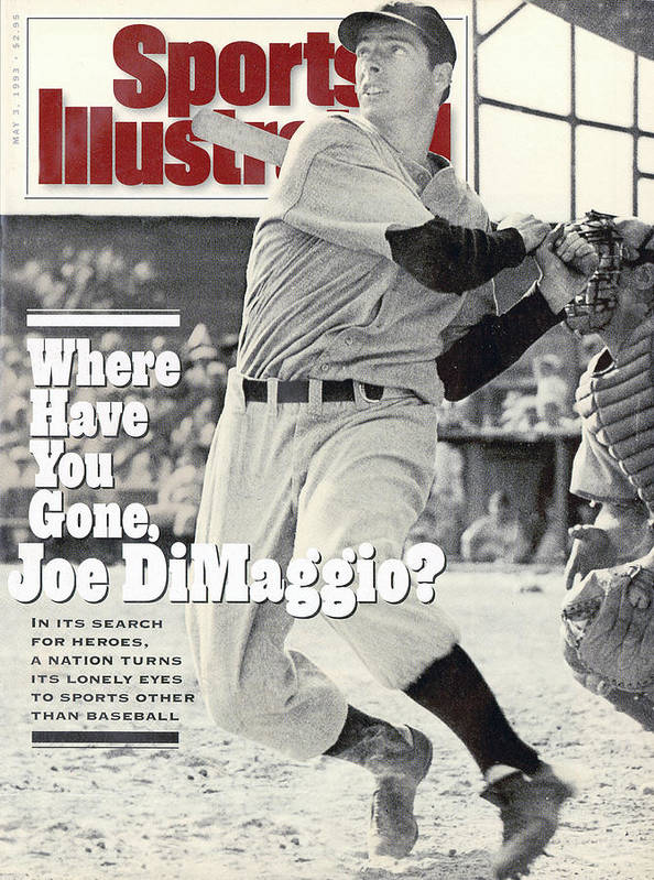 St. Louis Cardinals Poster featuring the photograph New York Yankees Joe Dimaggio... Sports Illustrated Cover by Sports Illustrated