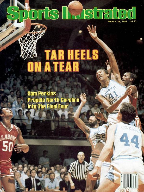 Playoffs Poster featuring the photograph North Carolina Sam Perkins, 1982 Ncaa East Regional Playoffs Sports Illustrated Cover by Sports Illustrated