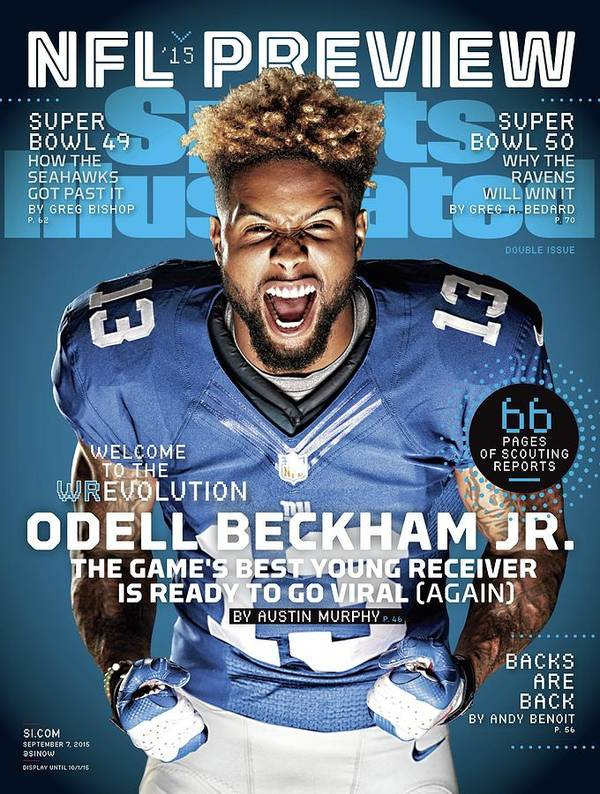 Magazine Cover Poster featuring the photograph Odell Beckham Jr. Welcome To The Wrevolution, 2015 Nfl Sports Illustrated Cover by Sports Illustrated