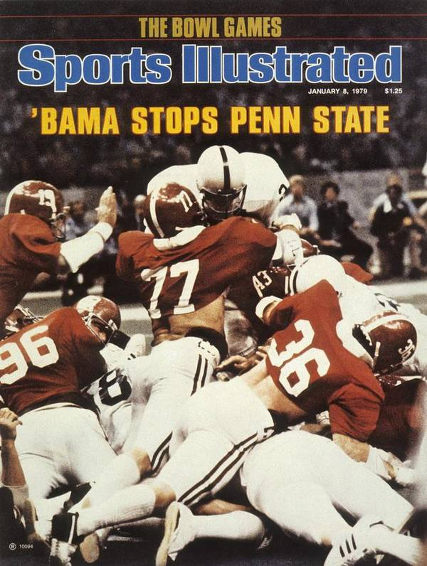 Magazine Cover Poster featuring the photograph Penn State Mike Guman, 1979 Sugar Bowl Sports Illustrated Cover by Sports Illustrated