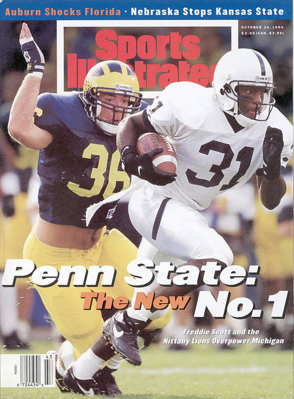 Michigan Poster featuring the photograph Penn State University Freddie Scott Sports Illustrated Cover by Sports Illustrated
