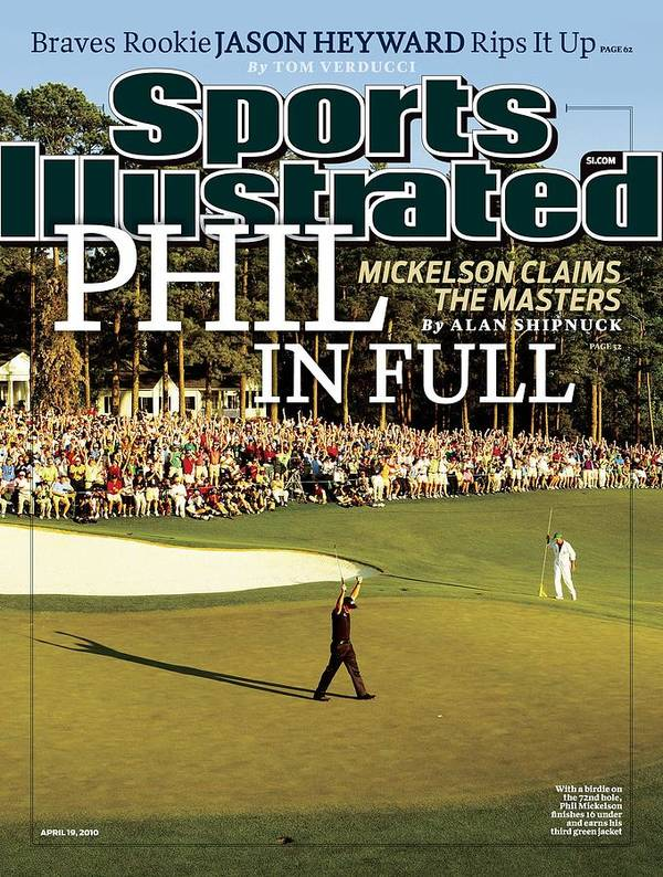 Magazine Cover Poster featuring the photograph Phil Mickelson, 2010 Masters - Final Round Sports Illustrated Cover by Sports Illustrated