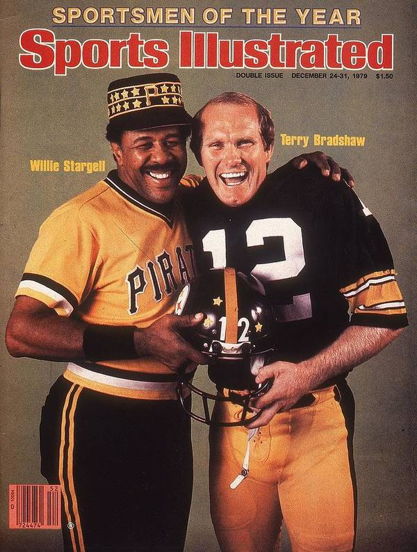 Professional Sport Poster featuring the photograph Pittsburgh Pirates Willie Stargell And Pittsburgh Steelers Sports Illustrated Cover by Sports Illustrated