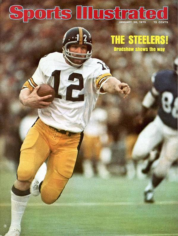 Sports Illustrated Poster featuring the photograph Pittsburgh Steelers Qb Terry Bradshaw, Super Bowl Ix Sports Illustrated Cover by Sports Illustrated