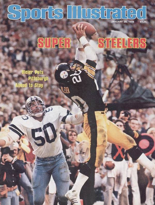 Super Bowl Xiii Poster featuring the photograph Pittsburgh Steelers Rocky Bleier, Super Bowl Xiii Sports Illustrated Cover by Sports Illustrated