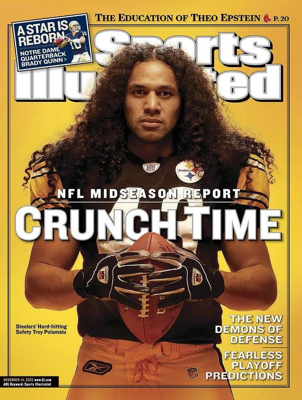 Sports Illustrated Poster featuring the photograph Pittsburgh Steelers Troy Polamalu Sports Illustrated Cover by Sports Illustrated