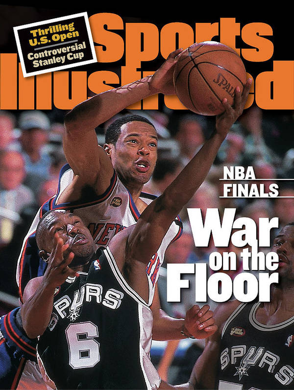 Playoffs Poster featuring the photograph San Antonio Spurs Avery Johnson, 1999 Nba Finals Sports Illustrated Cover by Sports Illustrated