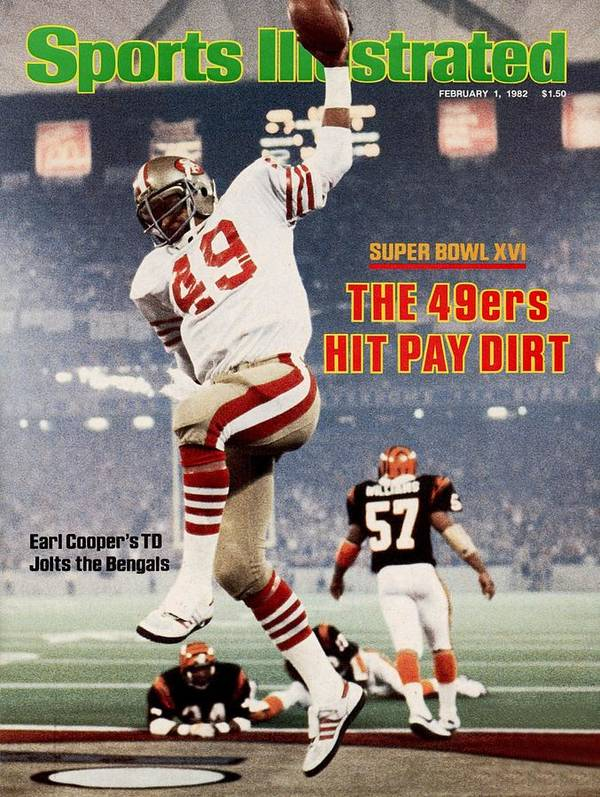 1980-1989 Poster featuring the photograph San Francisco 49ers Earl Cooper, Super Bowl Xvi Sports Illustrated Cover by Sports Illustrated