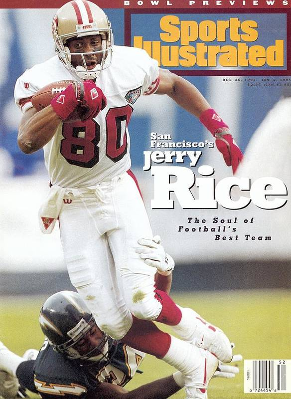 California Poster featuring the photograph San Francisco 49ers Jerry Rice... Sports Illustrated Cover by Sports Illustrated