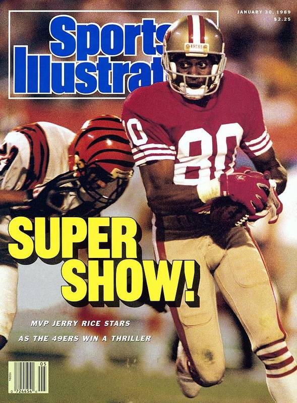 Magazine Cover Poster featuring the photograph San Francisco 49ers Jerry Rice, Super Bowl Xxiii Sports Illustrated Cover by Sports Illustrated