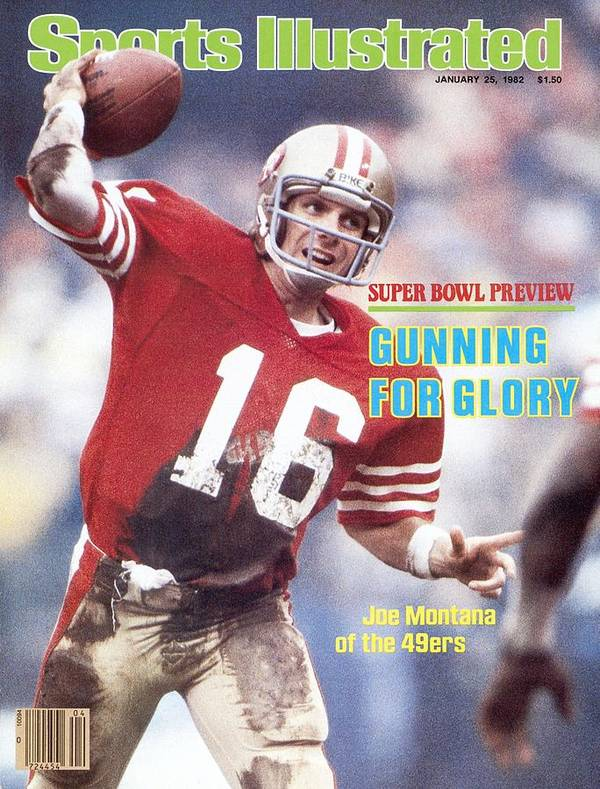 Candlestick Park Poster featuring the photograph San Francisco 49ers Qb Joe Montana... Sports Illustrated Cover by Sports Illustrated