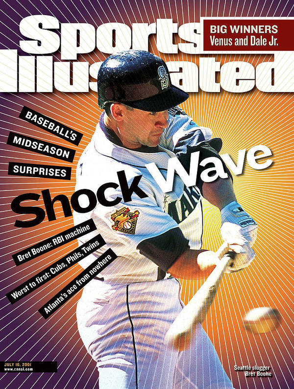 Magazine Cover Poster featuring the photograph Seattle Mariners Bret Boone... Sports Illustrated Cover by Sports Illustrated