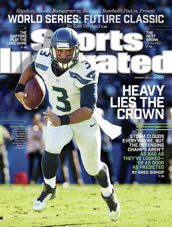 Magazine Cover Poster featuring the photograph Seattle Seahawks Heavy Lies The Crown Sports Illustrated Cover by Sports Illustrated