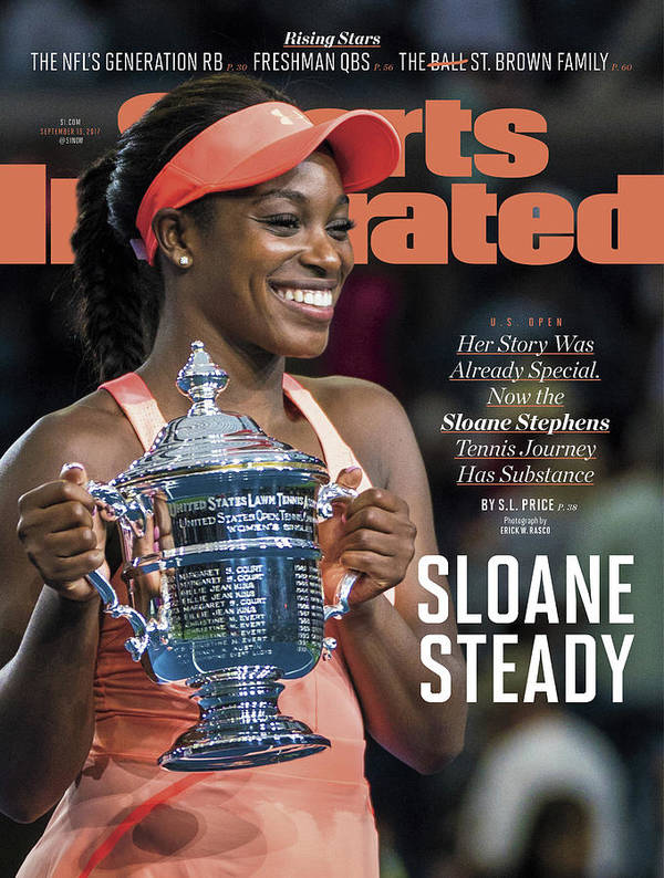 Tennis Poster featuring the photograph Sloane Steady Sports Illustrated Cover by Sports Illustrated