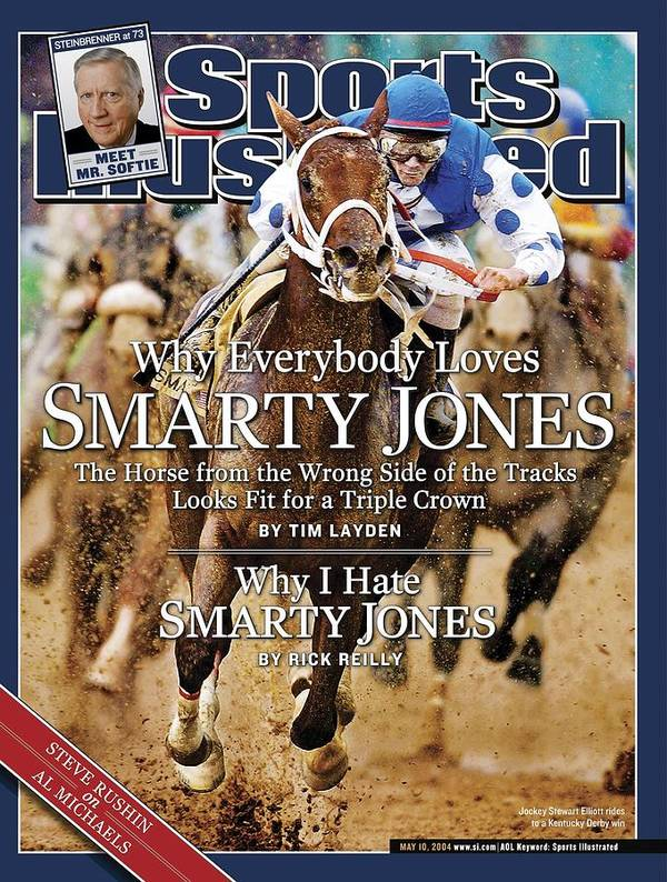 Horse Poster featuring the photograph Smarty Jones, 2004 Kentucky Derby Sports Illustrated Cover by Sports Illustrated