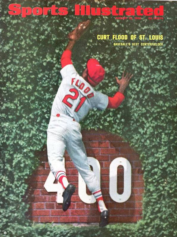St. Louis Cardinals Poster featuring the photograph St. Louis Cardinals Curt Flood Sports Illustrated Cover by Sports Illustrated