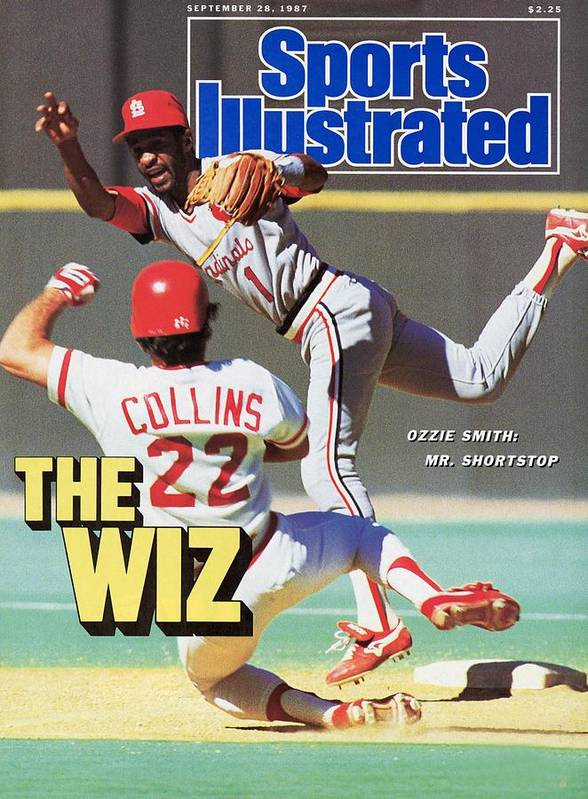 St. Louis Cardinals Poster featuring the photograph St Louis Cardinals Ozzie Smith... Sports Illustrated Cover by Sports Illustrated